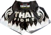 Muay Thai short black,fire white with THAI FIGHT