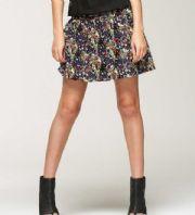 bebe Floral Printed Mini Skirt