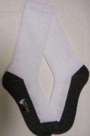ถุงเท้ากันเปื้อน ข้อยาว ครึ่งแข้ง พื้นเทา