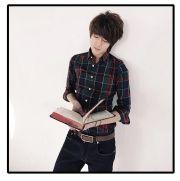 เสื้อผ้าผู้ชาย : เสื้อเชิร์ตลายสก็อตเขียวแดง