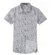 เสื้อผ้าผู้ชาย : เสื้อแขนสั้น summer ลายดอก น่ารัก