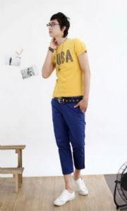 เสื้อผ้าผู้ชาย : กางเกงสามส่วน casual-low waist