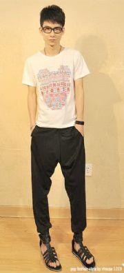เสื้อผ้าผู้ชาย : กางเกงสไตล์เกาหลีฮิบฮอป