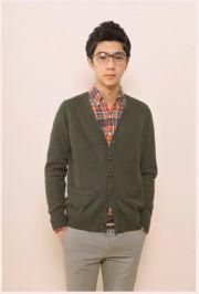 เสื้อผ้าแฟชั่นพร้อมส่ง : cardigan สีคลาสสิคเนี๊ยบแบบหนุ่มเกาหลี