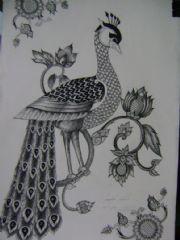 สตรีอ่างทอง ภาพวาดดินสอ