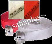 สายส่งน้ำดับเพลิง Atlas' Atlas-C  ชนิดผ้าใบ (สีขาวและสีแดง)
