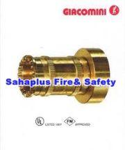 หัวฉีดน้ำดับเพลิงชนิดใช้ฉีดน้ำเป็นลำหรือปรับฉีดเป็นฝอย ทำด้วยทองเหลือง