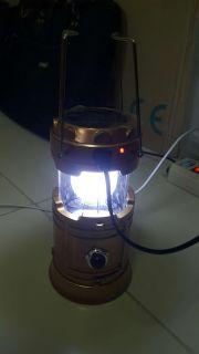 6 LED Solar Rechargeable ตะเกียงLED พลังงานแสงอาทิตย์+ไฟฉายLED+ที่ชาร์จมือถือฉุกเฉิน