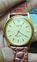 นาฬิกาข้อมือคุณผู้ชาย Lobor Collection Quartz Men's Water Resistant Watch with a Leather Band