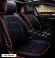 ชุดหุ้มเบาะรถยนต์ (สีดำขอบแดง)