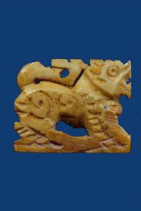 สิงหราช งาช้างแกะ หลวงพ่อเดิม วัดหนองโพ จ.นครสวรรค์ No.2449