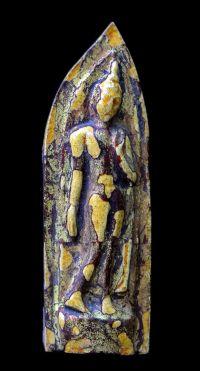 พระลีลาถ้ำหีบ เคลือบชุบรักปิดทอง กรุวัดถ้ำหีบ จ.สุโขทัย No.102
