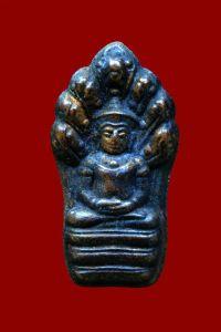 พระปรกใบมะขาม หลวงพ่อยิด วัดหนองจอก เนื้อทองแดง ปี 2535 No.2395