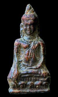 พระหูยานหน้ายักษ์ เนื้อตะกั่วสนิมแดง กรุวัดพระศรีรัตนมหาธาตุ ลพบุรี No.116