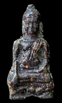พระหูยานหน้ายักษ์ เนื้อตะกั่วสนิมแดง กรุวัดพระศรีรัตนมหาธาตุ ลพบุรี No.123
