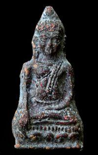 พระหูยานหน้ายักษ์ เนื้อตะกั่วสนิมแดง กรุวัดพระศรีรัตนมหาธาตุ ลพบุรี No.126