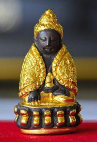 พระกริ่งปวเรศของสมเด็จโต ปี 2409 พิมพ์ห่มคลุมทองคำ ก้นทองคำ No.005