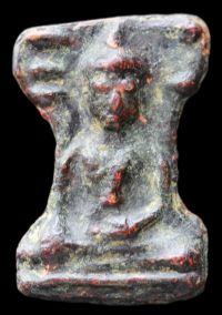 พระมเหศวร พิมพ์หน้าใหญ่(นิยม) เนื้อชินตะกั่วสนิมแดง กรุวัดพระศรีรัตนมหาธาตุ จ.สุพรรณบุรี  No.331