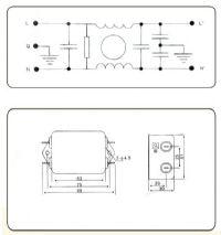 Noise Fillter EMI  Input  220 V 20 Amp