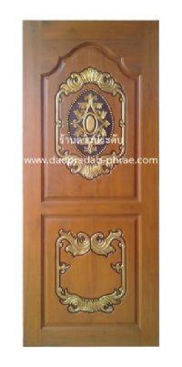 ประตูไม้สัก หลุยส์แต้มทอง