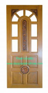 ประตูไม้สัก บานแสง