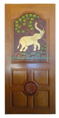 ประตูไม้สัก ช้าง
