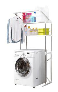 ชั้นวางของสเตนเลสคร่อมเครื่องซักผ้า