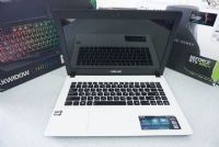 ASUS X452E สีขาวมุก AMD E1-2100มาพร้อมการ์ดจอ AMD Radeon HD 8210 (1GB DDR3)
