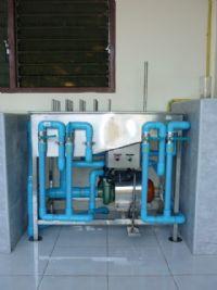 ระบบโรงงานน้ำดื่มผลิตด้วยระบบ Reverse Osmosis 8'000 ลิตร/วัน