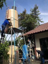 ติดตั้งระบบกรองน้ำบาดาล+ถังกรองน้ำ และปั้มจ่ายน้ำ