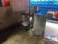 """ติดตั้งเครื่องกรองน้ำดื่ม+ตู้น้ำเย็นขนาด2หัวก้อกแบบน้ำพุ """"MAXCOOL"""""""