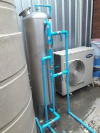 ติดตั้งถังกรองสแตนเลสสำหรับกรองน้ำประปาและดักตะกอนในเส้นท่อ ก่อนเข้าใช้งานในบริษัท