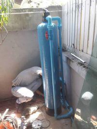 ติดตั้งถังกรอง Fiber Grassสำหรับดักตระกรัน+กลิ่นในเส้นท่อก่อนเข้าใช้งานในบ้าน