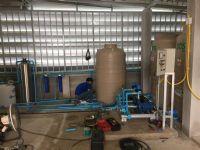 ติดตั้งระบบกรองน้ำบาดาล+ถังกรองน้ำ+ถังเก็บน้ำและปั้มจ่ายน้ำ