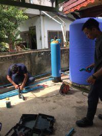 ติดตั้งถังกรองน้ำประปา+เครื่องกรองน้ำดื่ม 5 ขั้นตอน