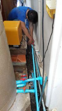 ติดตั้งระบบกรองน้ำประปาหมู่บ้าน+ถังกรองน้ำ+ถังเก็บน้ำและปั้มจ่ายน้ำ