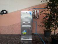 เครื่องกรองน้ำแสตนเลสแบบ2ท่อ+ตู้น้ำเย็น