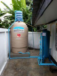 ติดตั้งถังกรองน้ำพร้อมถังเก็บน้ำ