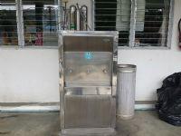 เครื่องกรองน้ำแสตนเลสแบบ3ท่อ+ตู้น้ำเย็น