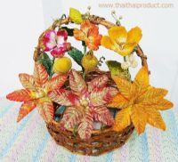 ดอกไม้ประดิษฐ์ คละสี เหมาะสำหรับกระเช้า 16 นิ้วขึ้นไป (349 ช่อ)