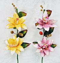 ดอกไม้ประดิษฐ์ เหมาะสำหรับกระเช้า 12-14 นิ้ว (58 ช่อ)