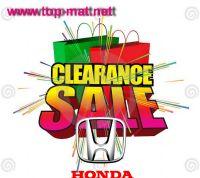 สินค้าลดล้างสต๊อก Honda