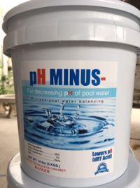 pH MINUS (pH-) สำหรับลดค่า pH สระว่ายน้ำ