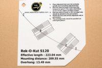 แผ่น PVC Set Up หัวเข็ม Rek-O-Kut S120 (Welove)