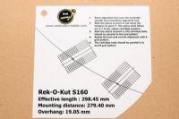 แผ่น PVC Set Up หัวเข็ม Rek-O-Kut S160 (Welove)