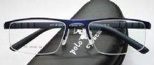 POLO.COM  ครึ่งกรอบแว่นตา Stainless สีน้ำเงินเข้ม  ขาแว่นสีน้ำเงินเข้ม