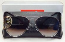 RAY-BAN RB3025 AVIATOR กรอบแว่นกันแดดสีเงิน เลนส์ไล่สีเทา