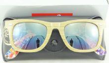 RAY-BAN RB2140 1138/85 WAYFARER  กรอบแว่นกันแดดสีไม้เนื้ออ่อน เลนส์ไล่สีน้ำตาล