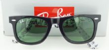 RAY-BAN  RB2140 1046 WAYFARER กรอบแว่นกันแดดสีดำ เลนส์สีเขียว