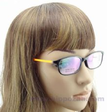JP EYEWEAR TR90 frame กรอบแว่นตาสีดำ ขาแว่นสีส้ม